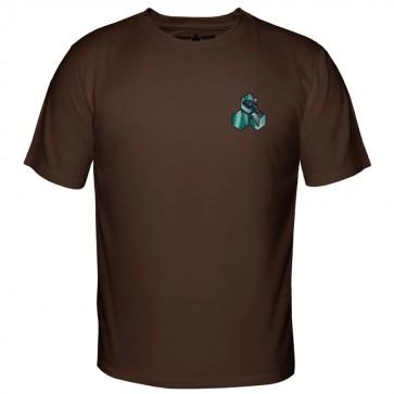 Channel Islands Salmon Hex T-Shirt - Dark Chocolate