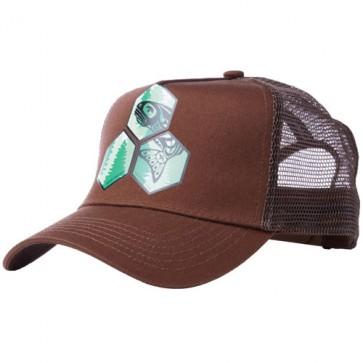 Channel Islands Salmon Hex Trucker Hat - Brown