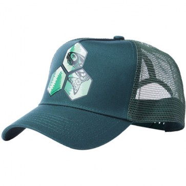 Channel Islands Salmon Hex Trucker Hat - Forest Green