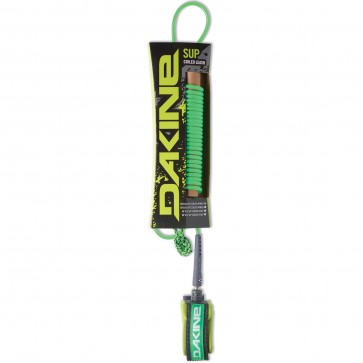 Dakine Coiled SUP Leash - Neon Green