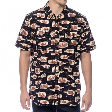 Dark Seas Afloat Button-Up Shirt - Navy