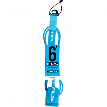 FCS Premium Shortboard Competition Leash - Teal