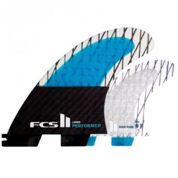 FCS II Fins Performer PC Carbon Large Quad Fin Set