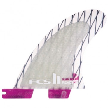 FCS II Fins Reactor PC Quad Rears Medium - Clear