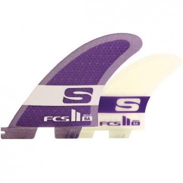 FCS II Fins SA PC Tri-Quad - Purple/Clear