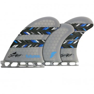 Futures Fins Josh Mulcoy Tri-Quad - Grey/Feathers