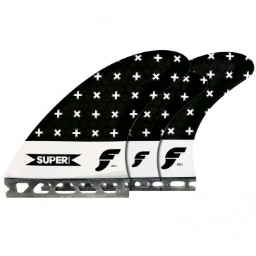 Futures Fins Super Tri-Quad - Smoke/White Bar