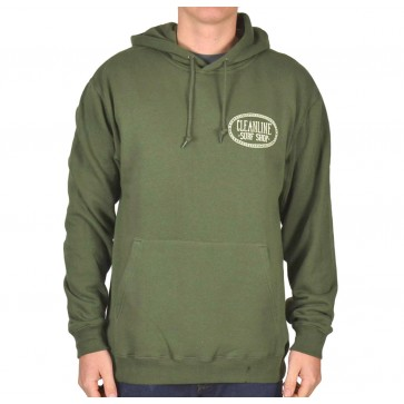 Cleanline Anchor Hoodie - Olive
