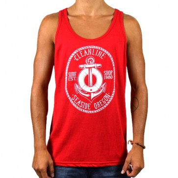 Cleanline Anchor Tank - Red/White