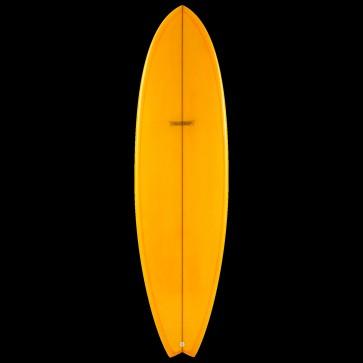 Global Surf Industries - 7'4'' Modern Blackfish Surfboard - Tangerine
