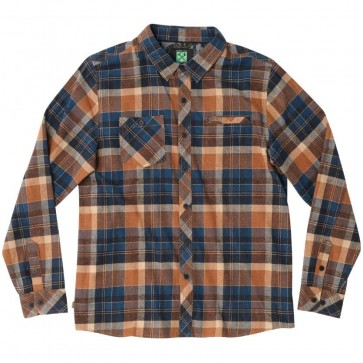 HippyTree Harbor Flannel - Rust
