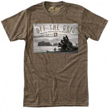 HippyTree Shoreline T-Shirt - Heather Brown