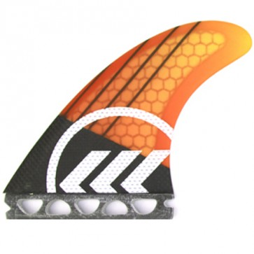Kinetik Racing Fins Parko Phase 4 S/M Futures - Yellow/Orange