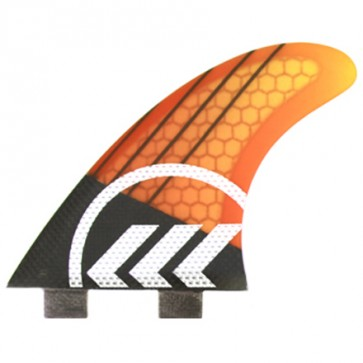 Kinetik Racing Fins Parko Phase 4 S/M FCS - Yellow/Orange
