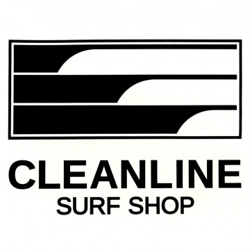 Cleanline Surf Lines Sticker - Black