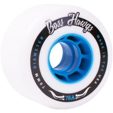 Landyachtz Boss Hawgs 70mm Wheels - White/Blue