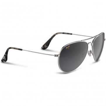 Maui Jim Mavericks Sunglasses - Silver/Neutral Grey