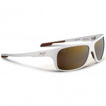 Maui Jim Island Time Sunglasses - Matte White/HCL Bronze