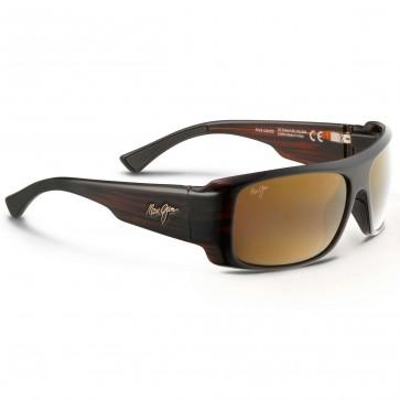 Maui Jim Five Caves Sunglasses - Dark Tortoise Stripe/HCL Bronze