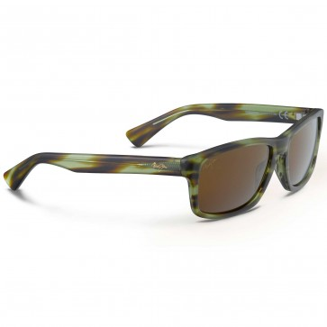 Maui Jim McGregor Point Sunglasses - Matte Olive Tortoise/HCL Bronze