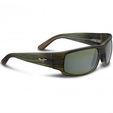Maui Jim World Cup Sunglasses - Matte Green Stripe Rubber/Maui HT