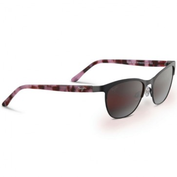 Maui Jim Popoki Sunglasses - Satin Dark Gunmetal/Maui Rose