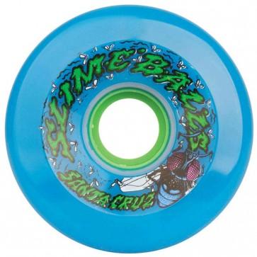 Santa Cruz Skateboards - 72mm Slime Balls Roadkill Wheels - Neon Blue