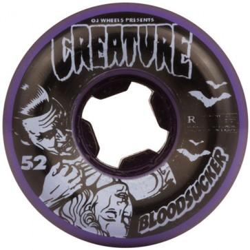 OJ Wheels 52mm Creature Bloodsucker Fives Wheels - Purple/Black