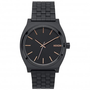 Nixon Watches The Time Teller - All Black/Rose Gold