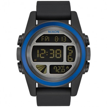 Nixon Unit Tide Watch - Black/Blue/Gunmetal