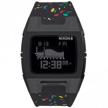 Nixon Lodown Silicone Watch - Black Multi Speckle