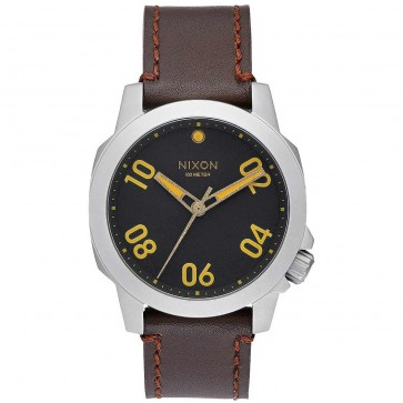 Nixon Watches The Ranger 40 Leather - Black/Brown