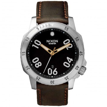 Nixon Ranger Leather Watch - Black/Brown