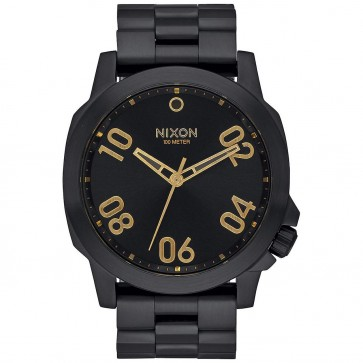 Nixon Ranger 45 Watch - All Black/Gold