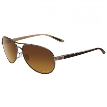 Oakley Women's Feedback Polarized Sunglasses - Polished Chocolate/Brown Gradient