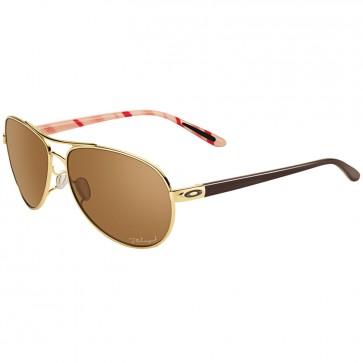 Oakley Women's Feedback Polarized Sunglasses - Polished Gold/Bronze