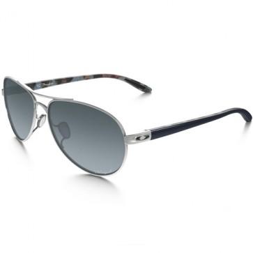 Oakley Women's Tie Breaker Polarized Sunglasses - Polished Chrome/Grey Gradient