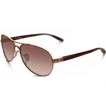 Oakley Women's Tie Breaker Sunglasses - Rose Gold/VR50 Brown Gradient