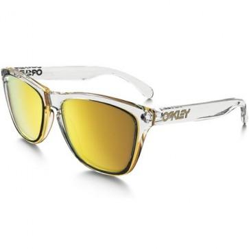 Oakley Frogskins Crystal Sunglasses - Polished Clear/24K Iridium