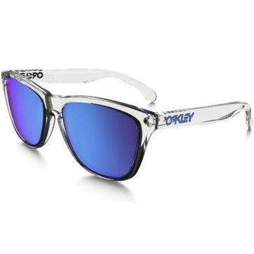 Oakley Frogskins Crystal Sunglasses - Polished Clear/Sap1phire Iridium