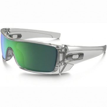 Oakley Batwolf Sunglasses - Polished Clear/Jade Iridium