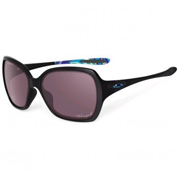 Oakley Women's Overtime Tone It Up Polarized Sunglasses - Polished Black/OO Grey