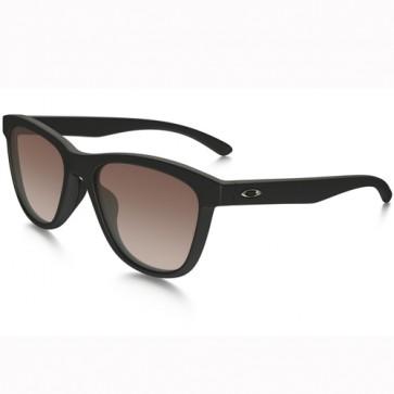 Oakley Women's Moonlighter Sunglasses - Matte Black/Vr50 Brown Gradient