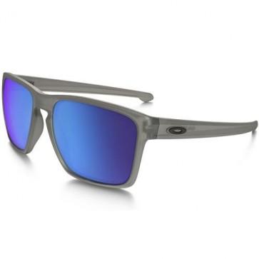 Oakley Sliver XL Polarized Sunglasses - Matte Grey Ink/Sapphire Iridium