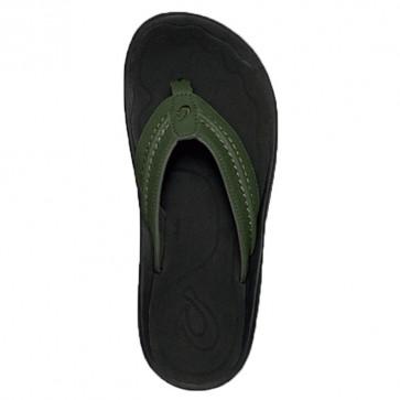 Olukai Hokua Sandals - Rosin/Black