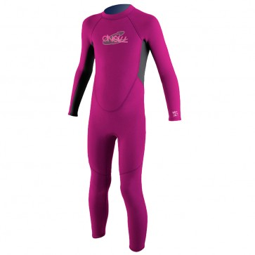 O'Neill Toddler Reactor 2mm Full Suit - Punk Pink/Coal