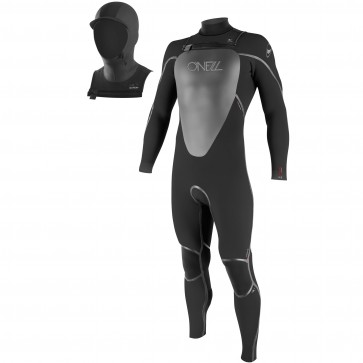 O'Neill Mutant 5/4 Hooded Wetsuit - Black