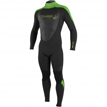 O'Neill Epic 4/3 Back Zip Wetsuit - Black/DayGlo