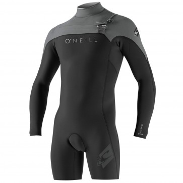 O'Neill HyperFreak 2mm Long Sleeve Spring Wetsuit - Black/Smoke/Lime
