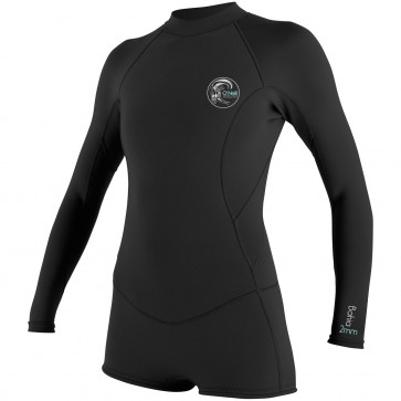O'Neill Women's Bahia 2/1 Long Sleeve Short Spring Wetsuit - Black